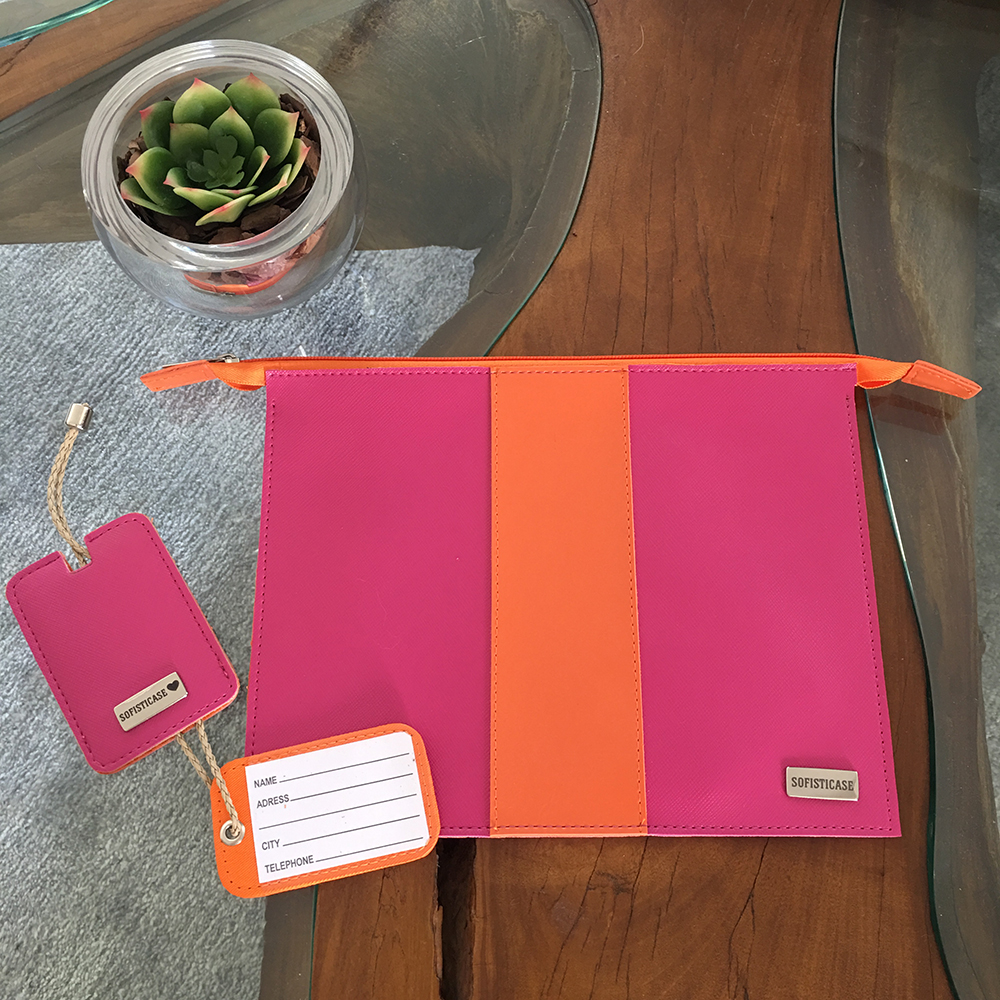 TRAVEL KIT PINK / LARANJA
